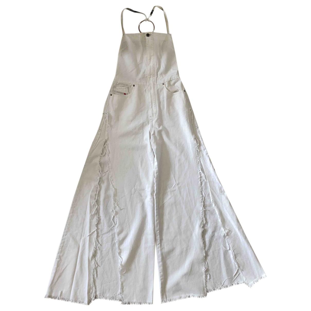 Diesel - Combinaison   pour femme en coton - blanc