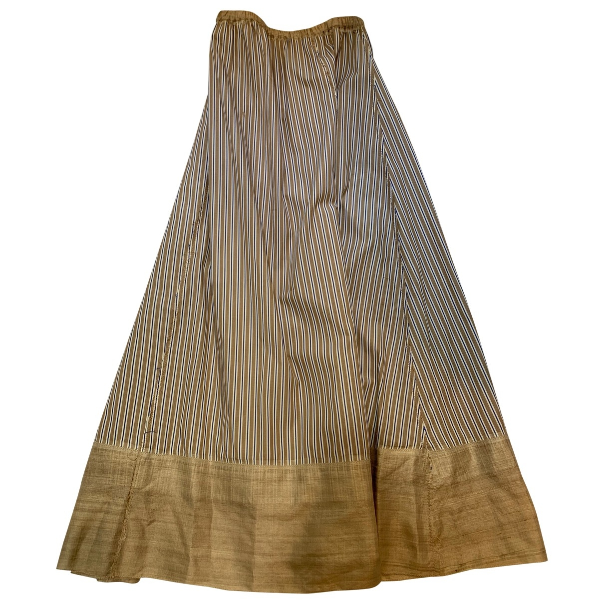 Philosophy Di Alberta Ferretti \N Camel Cotton skirt for Women 40 FR
