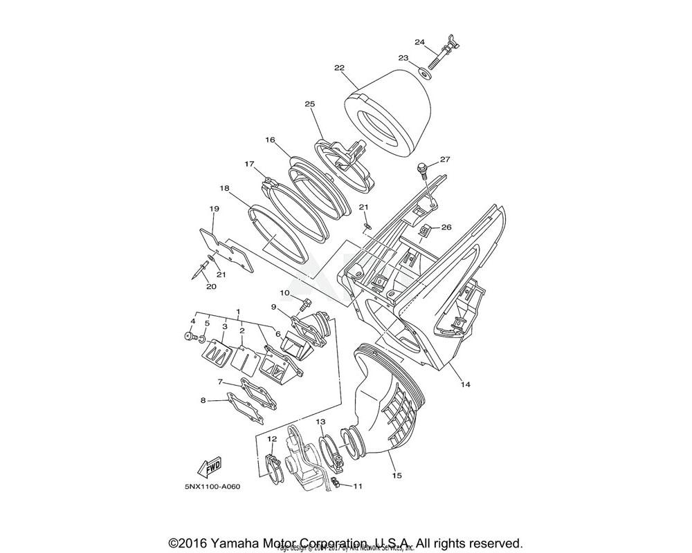 Yamaha OEM 90109-06245-00 BOLT