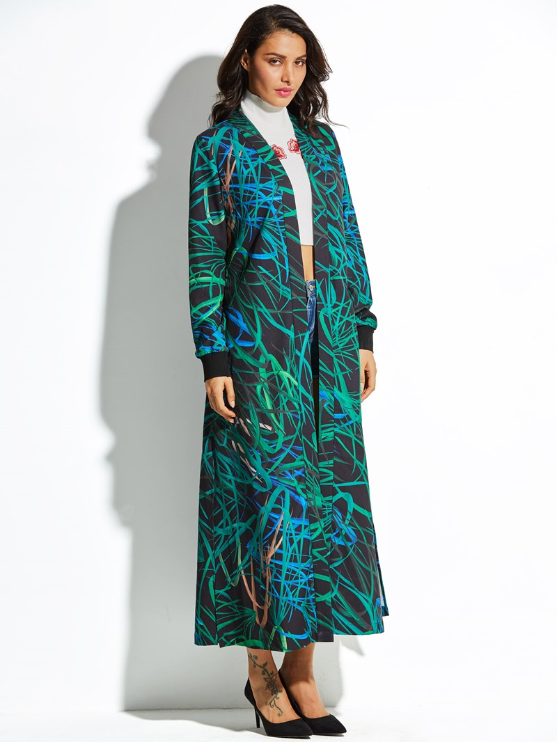 Ericdress Shawl Collar Color Block Stripe Women's Jacket
