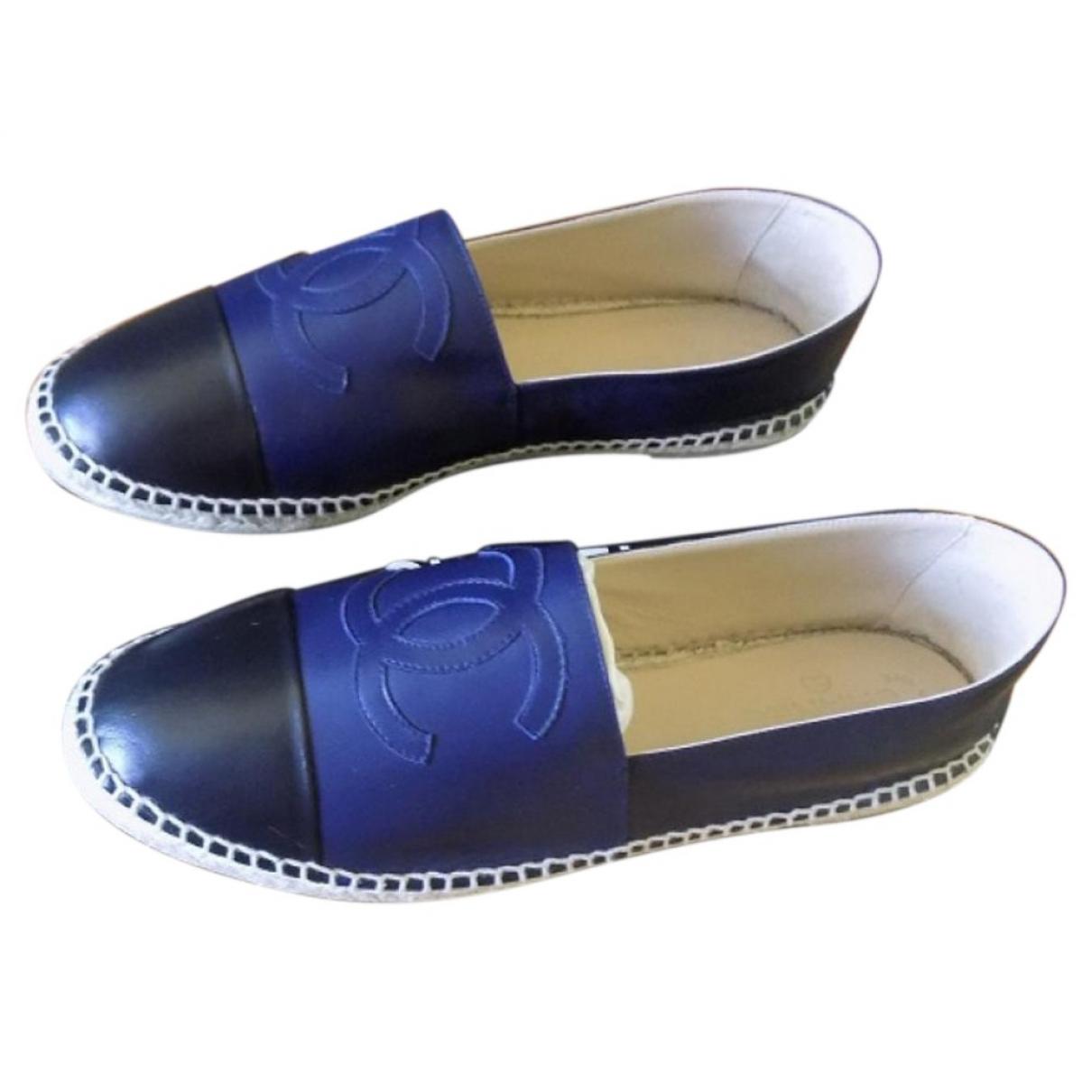Chanel \N Espadrilles in  Blau Leder