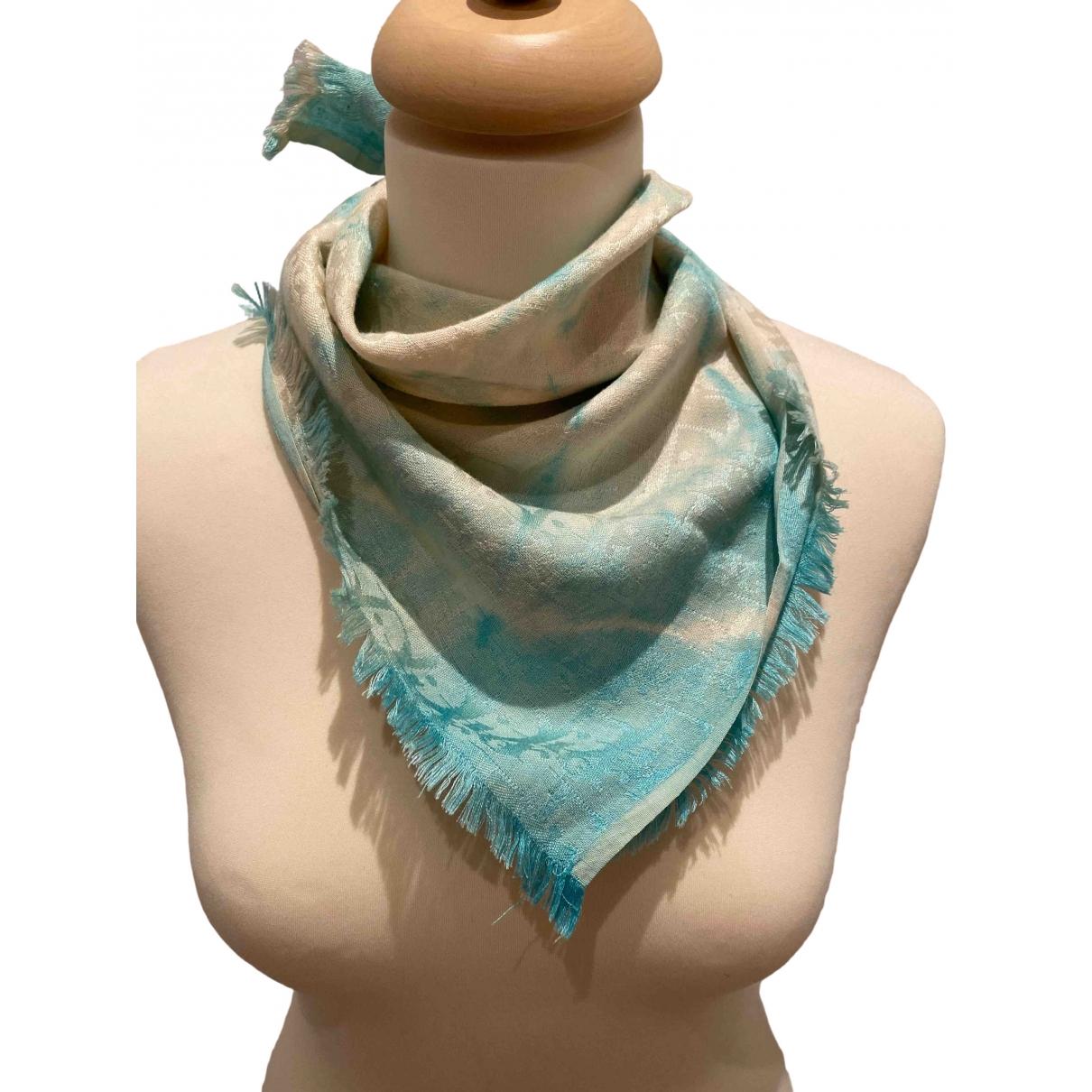 Dior \N Schal in  Blau Seide