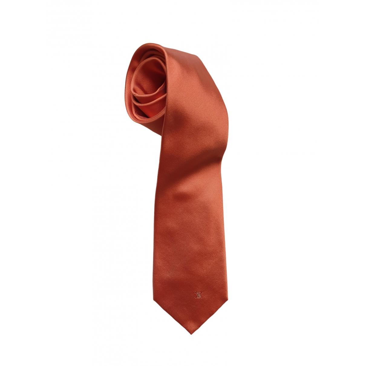 Celine \N Orange Silk Ties for Men \N