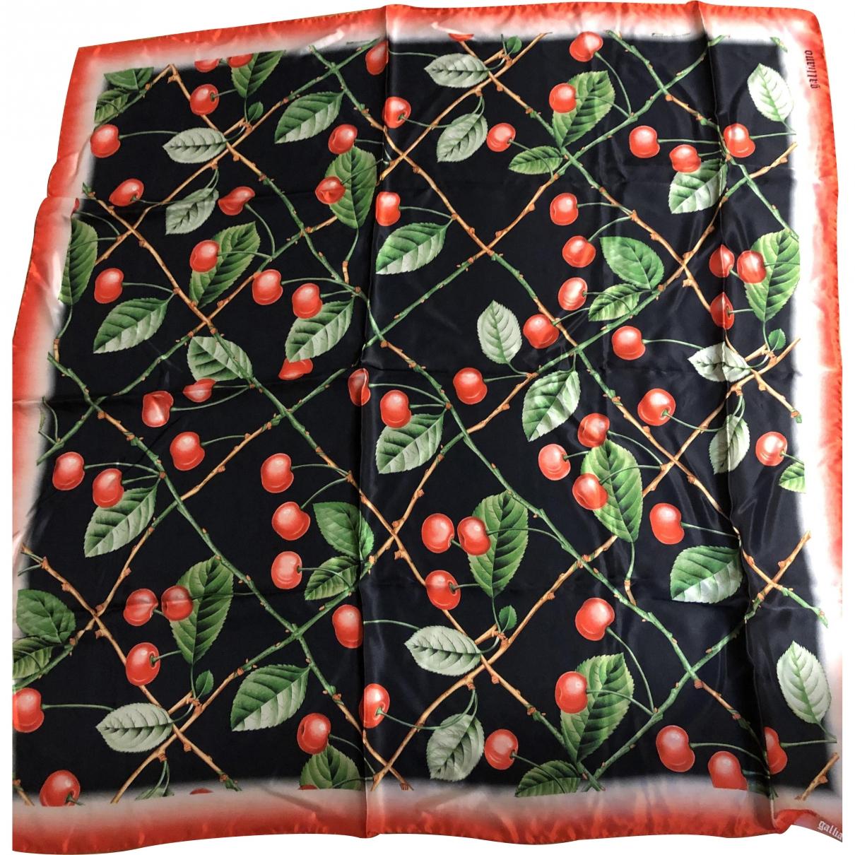 Galliano - Foulard   pour femme en soie - multicolore