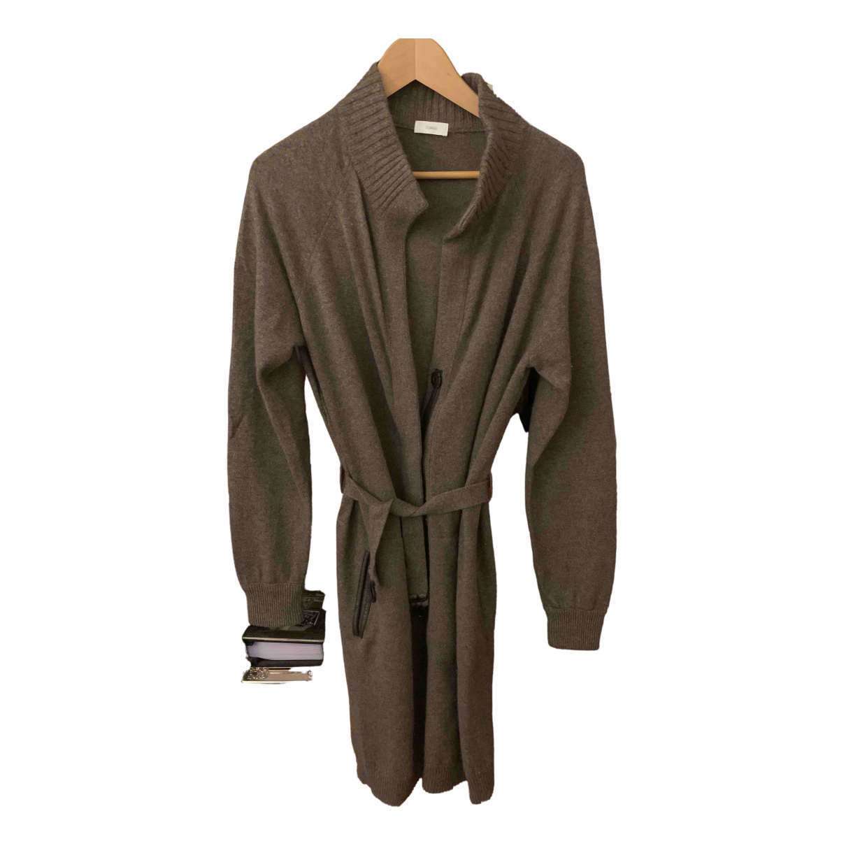 Malo N Brown Cashmere coat for Women 44 IT