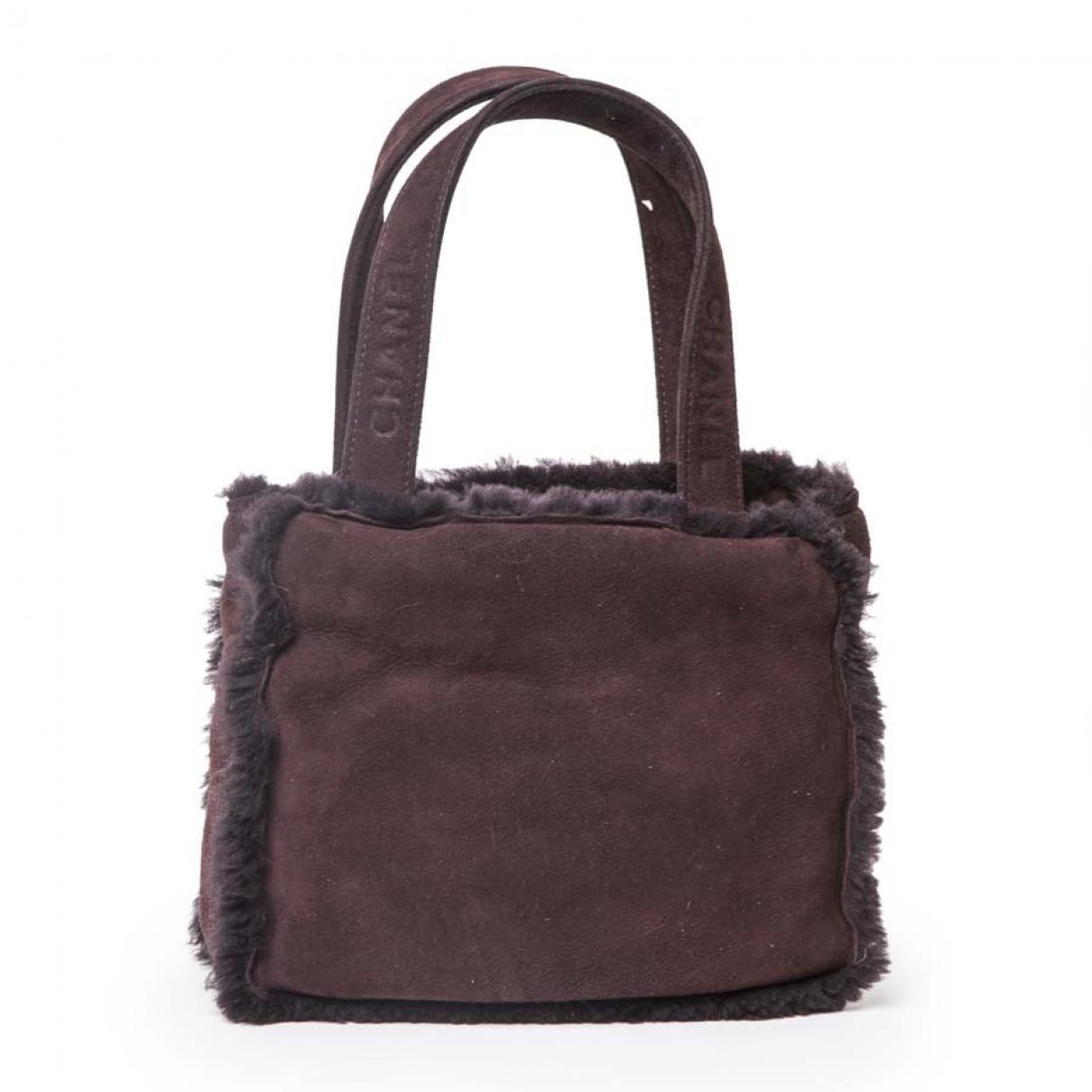 Chanel \N Handtasche in  Braun Schaf