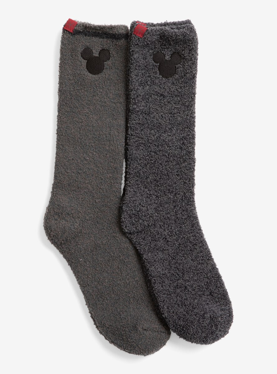 CozyChic Classic Disney Men Mickey Mouse 2 Pack Sock Carbon Multi