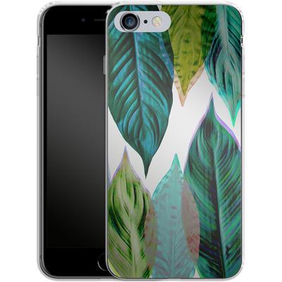 Apple iPhone 6s Plus Silikon Handyhuelle - Green Leaves von Mareike Bohmer
