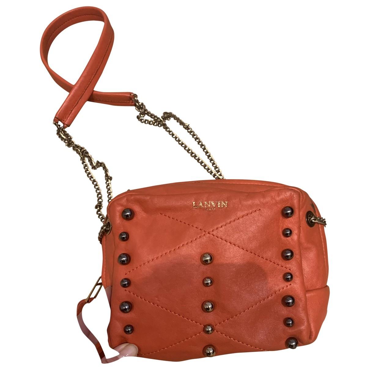 Lanvin \N Orange Leather handbag for Women \N