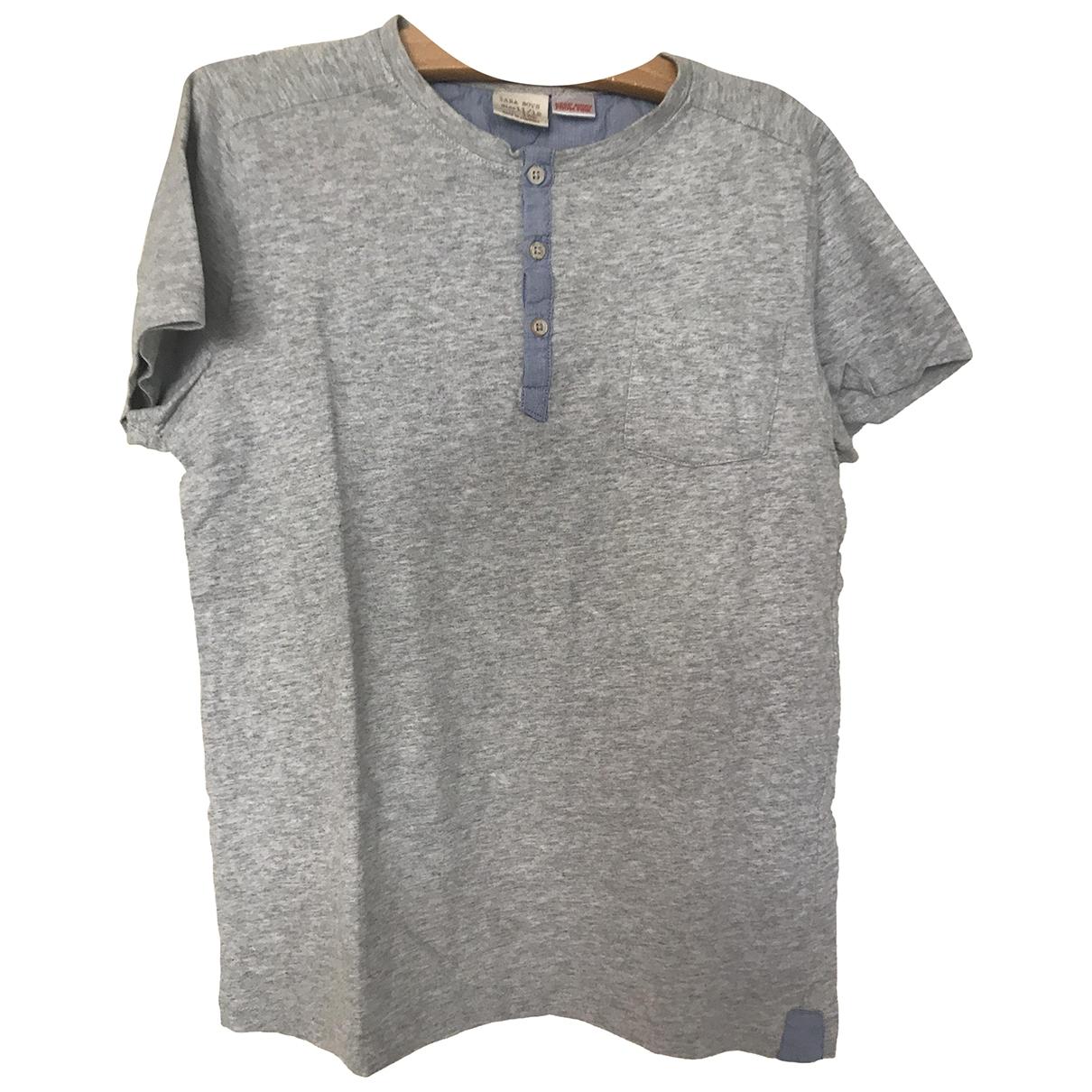Zara - Top   pour enfant en coton - gris