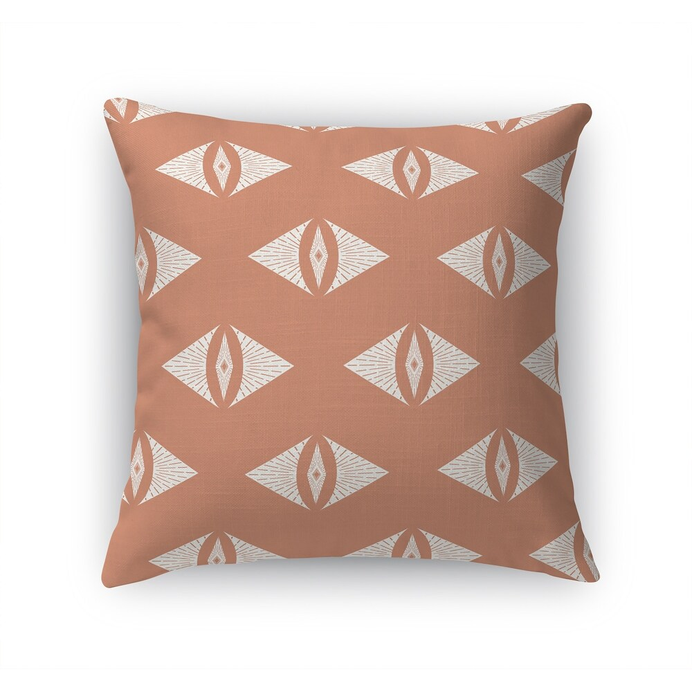 GEOMETRIC EYE PEACHY PINK Accent Pillow By Kavka Designs (16