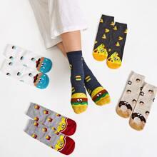 Socken mit Karikatur Muster 5 Paare