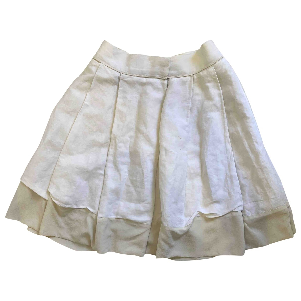 Chloé \N White Cotton skirt for Women 34 FR