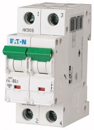 Eaton xPole 6 A MCB Mini Circuit Breaker, 2P Curve B