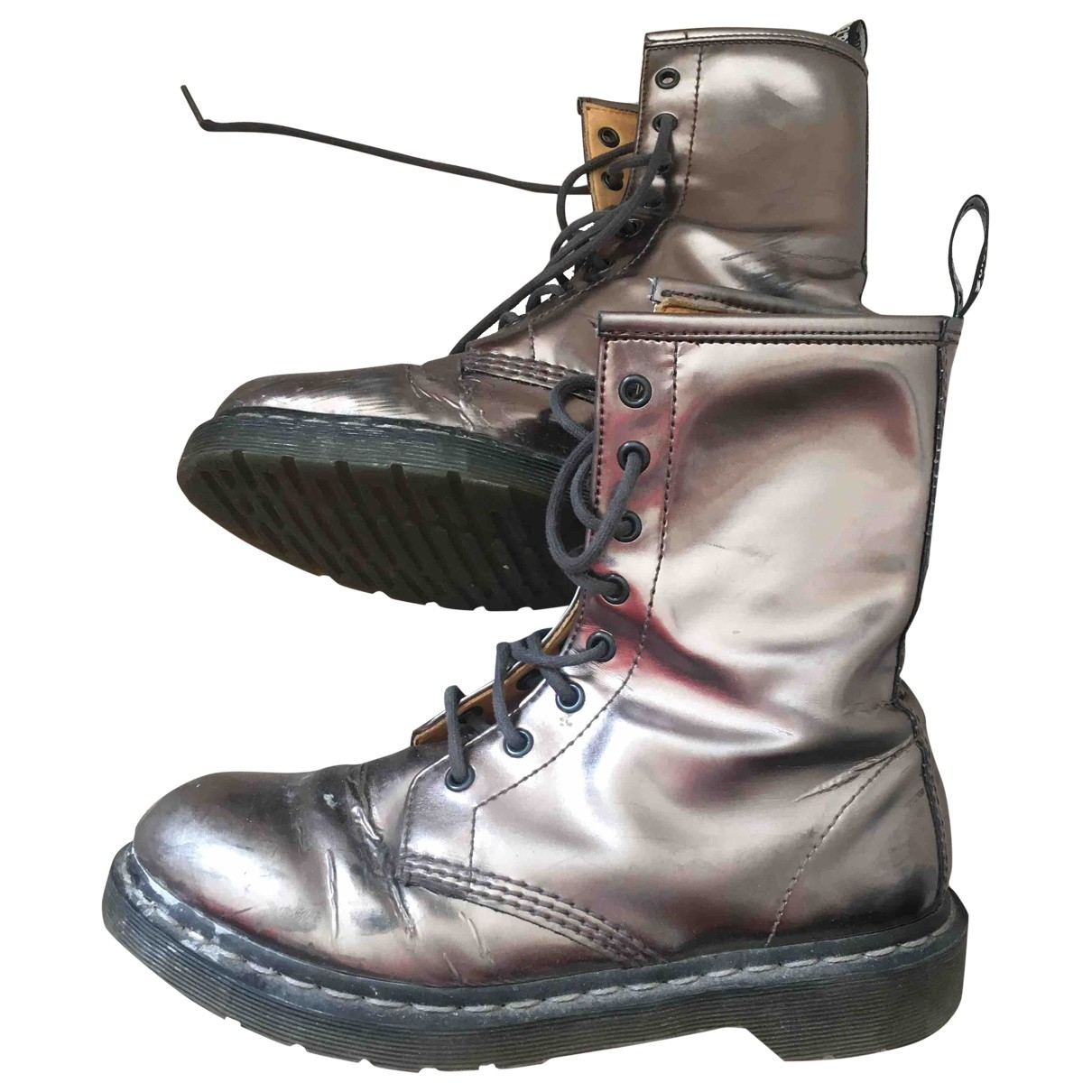 Dr. Martens 1460 Pascal (8 eye) Stiefel in  Metallic Leder