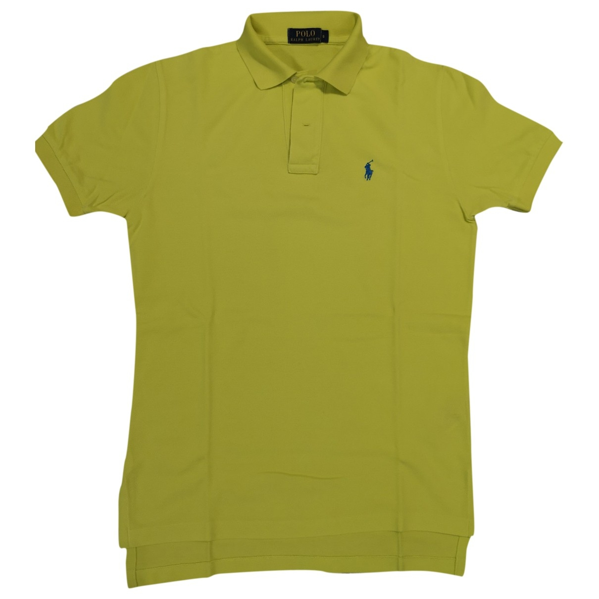 Polo Ralph Lauren Polo cintre manches courtes Poloshirts in  Gelb Baumwolle