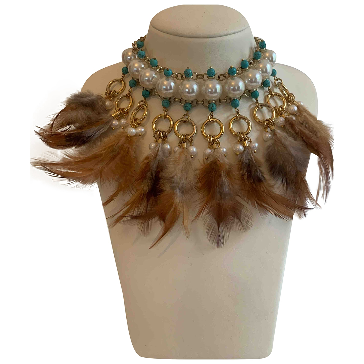 Non Signé / Unsigned \N Multicolour Pearls necklace for Women \N