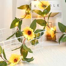 20pcs Artificial Sunflower Decor String Light