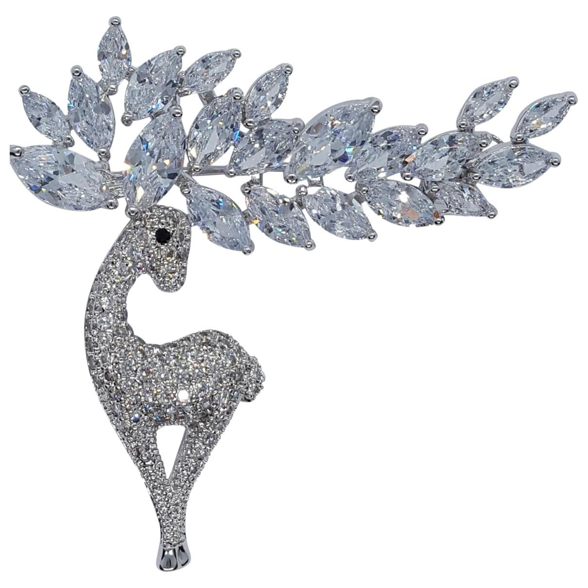 - Broche Motifs Animaliers pour femme en metal - argente