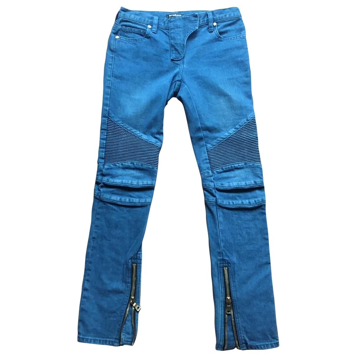 Balmain \N Blue Cotton - elasthane Jeans for Women 36 FR
