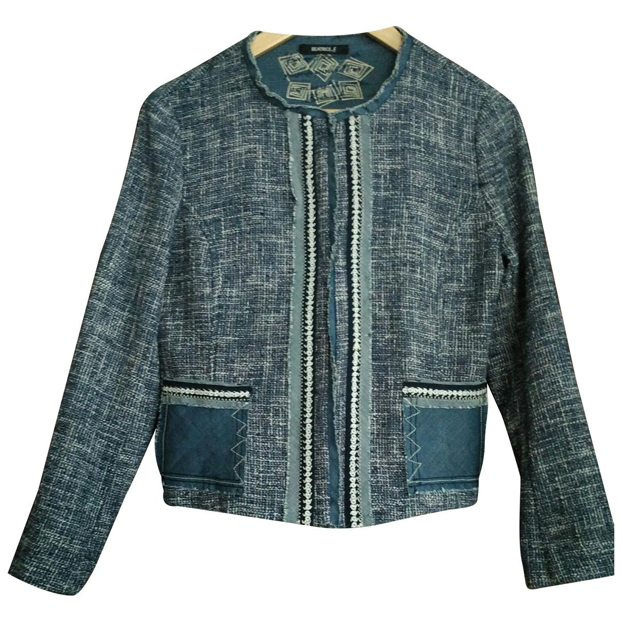 - Veste   pour femme en coton - bleu