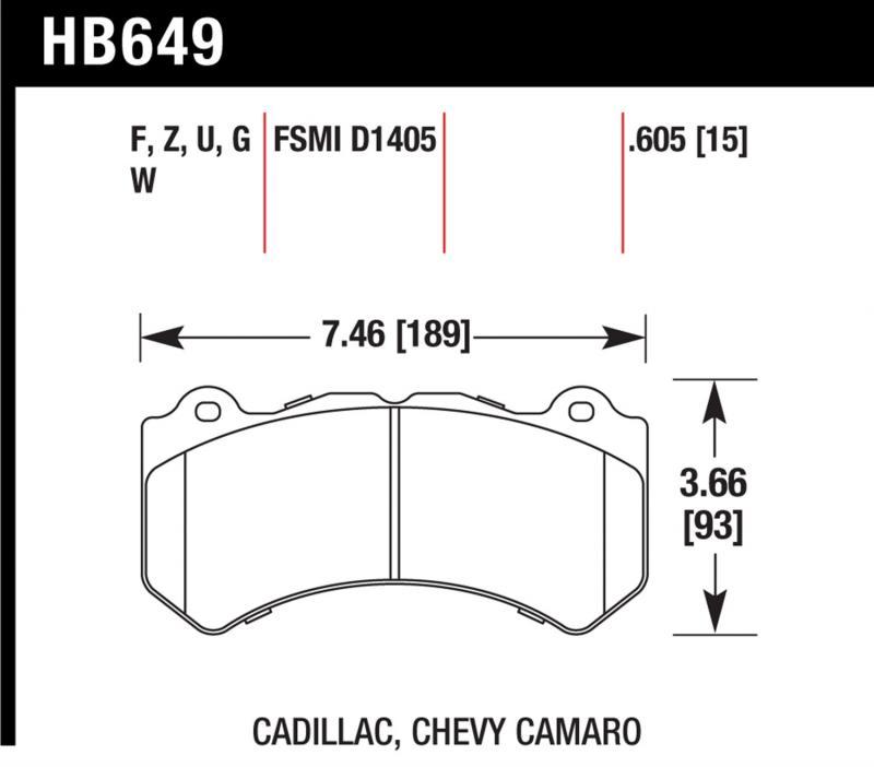 Hawk Performance HB649Z.605 Disc Brake Pad Front