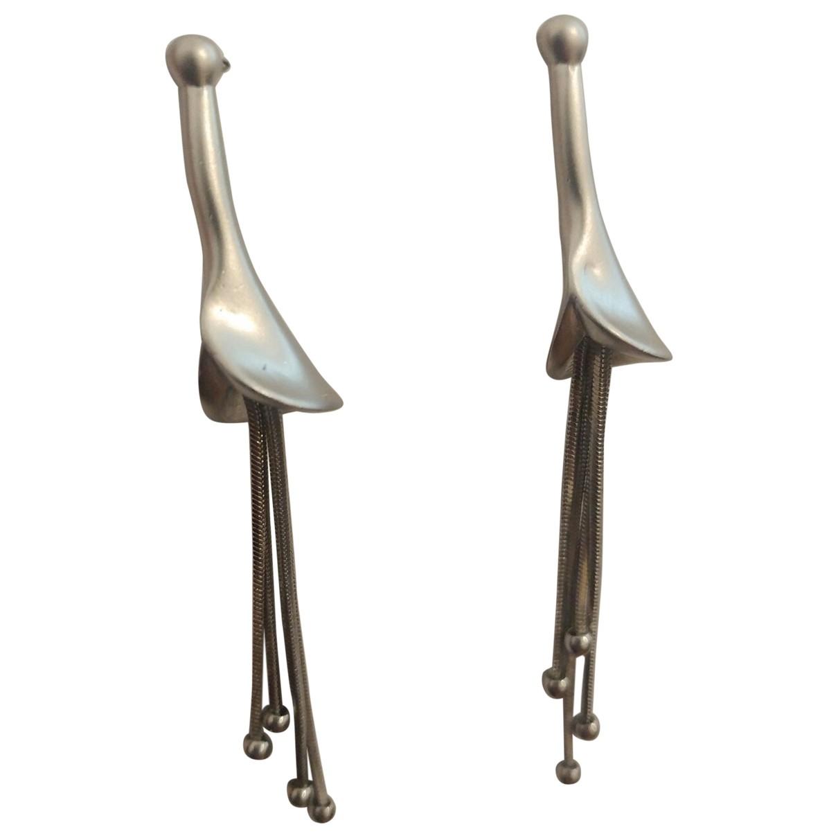 A-esque - Boucles doreilles   pour femme en metal - argente