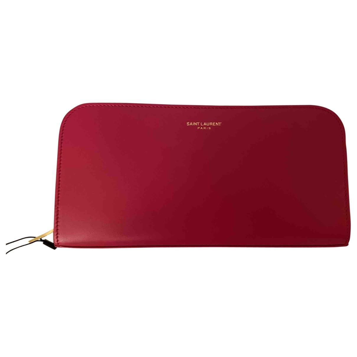 Saint Laurent Rive Gauche Pink Leather wallet for Women \N