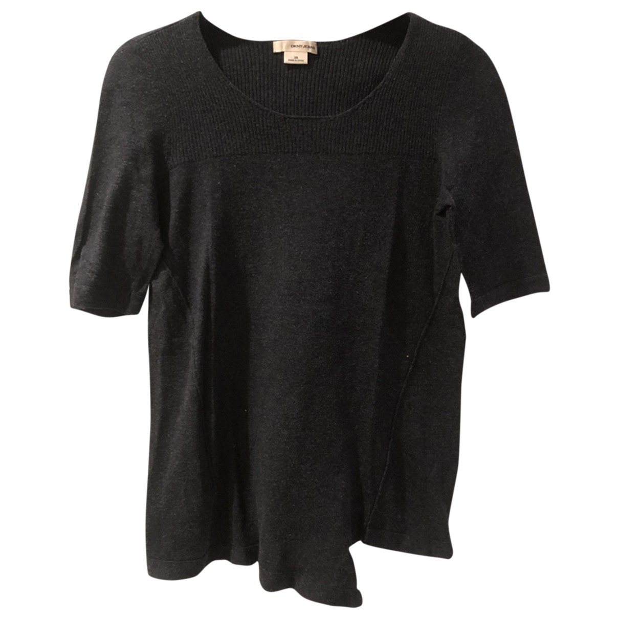 Dkny - Top   pour femme en coton - anthracite