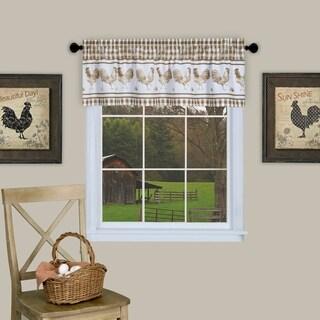 Barnyard Window Curtain Valance (Taupe)