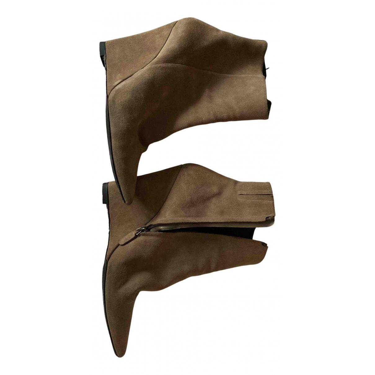 Barbara Bui - Boots   pour femme en suede - marron