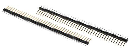 Molex , C-Grid III, 90120, 40 Way, 1 Row, Straight Pin Header (5)