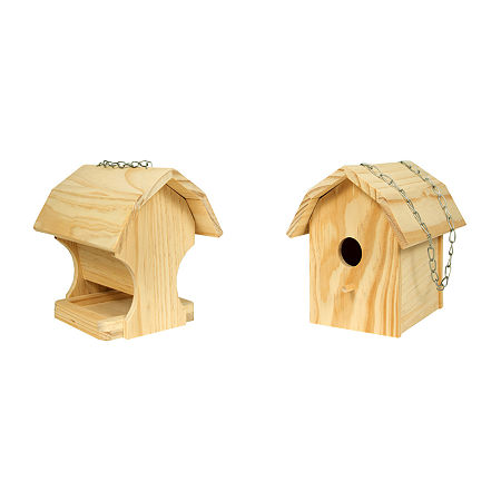 Homewear Diy Combo Bird House And Feeder, One Size , No Color Family