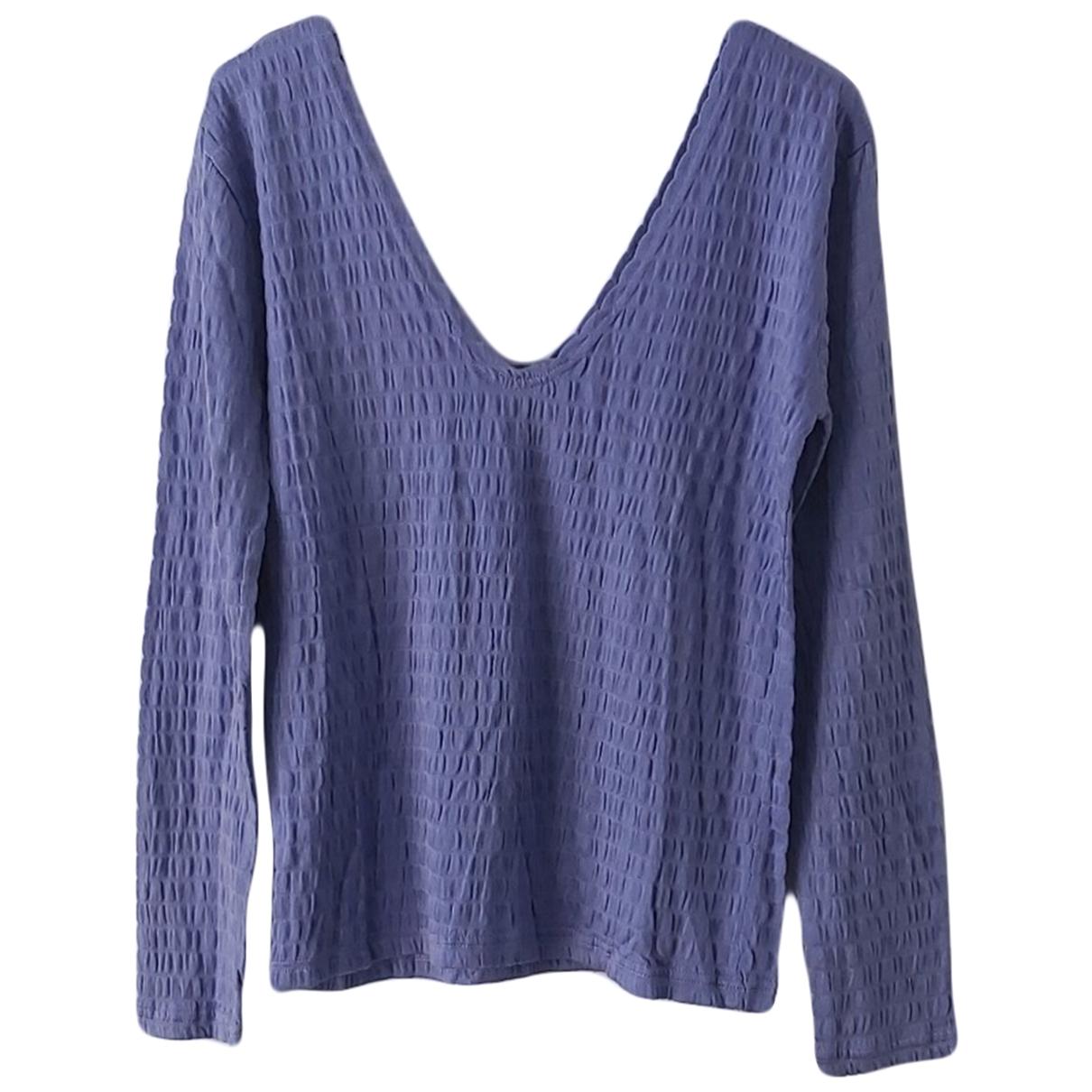 Non Signé / Unsigned \N Purple Cotton Knitwear for Women 40 IT