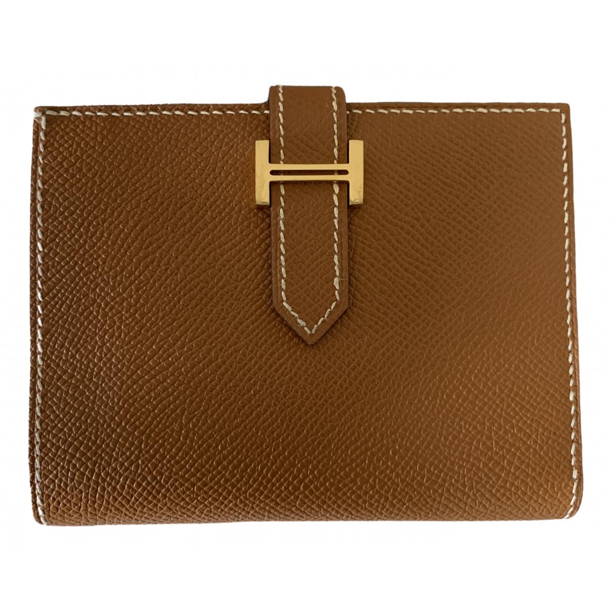 Hermès Béarn Camel Leather wallet for Women \N