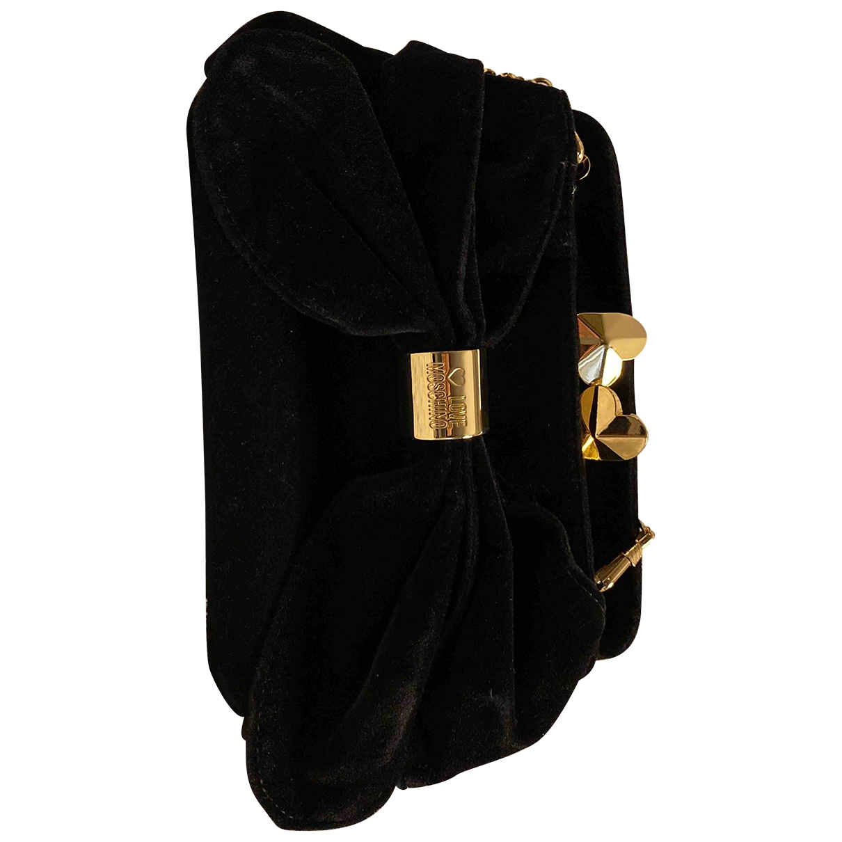 Moschino Love \N Clutch in  Schwarz Samt