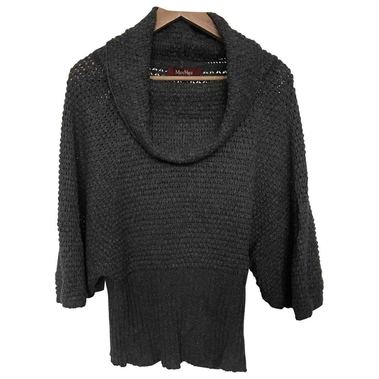 Max Mara Studio - Pull   pour femme en laine - gris