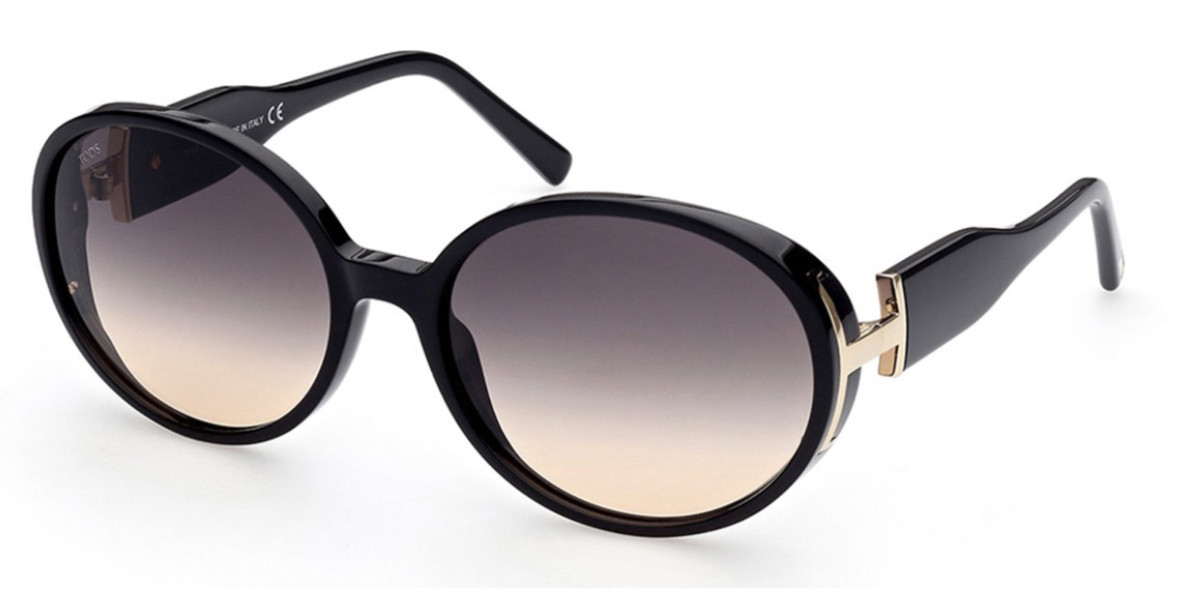 TODS TO0290 01B Women's Sunglasses Black Size 62