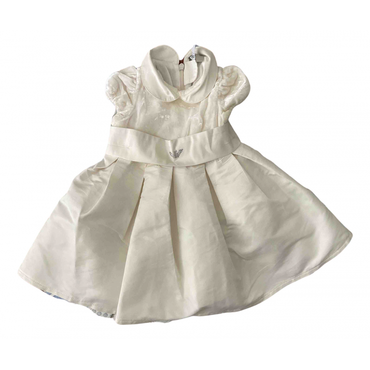Armani Baby \N Kleid in  Weiss Polyester