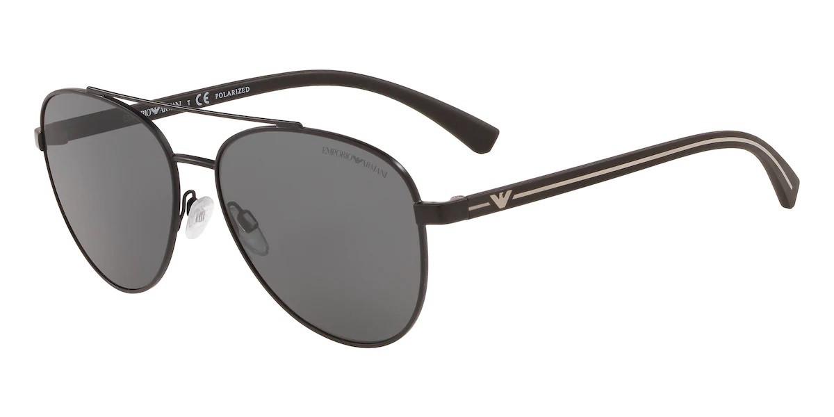Emporio Armani EA2079 Polarized 300181 Mens Sunglasses Black Size 58