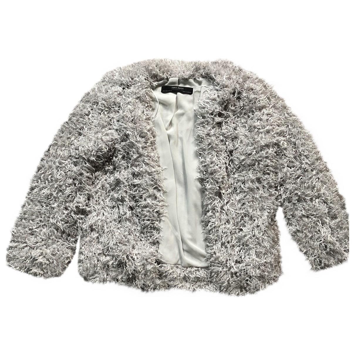 Zara \N Silver coat for Women M International