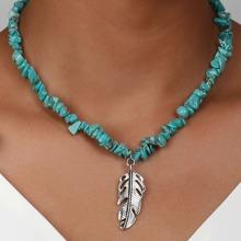 Halskette mit Feder Anhaenger