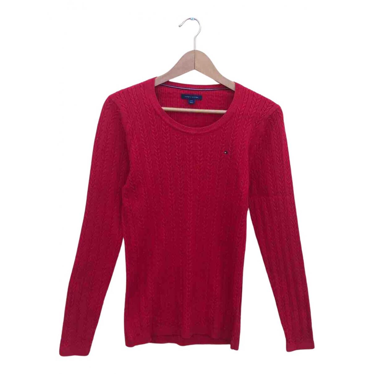 Tommy Hilfiger - Pull   pour femme en coton - rouge