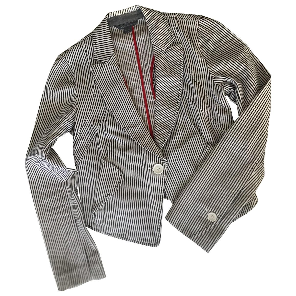 Emporio Armani \N Lederjacke in Denim - Jeans