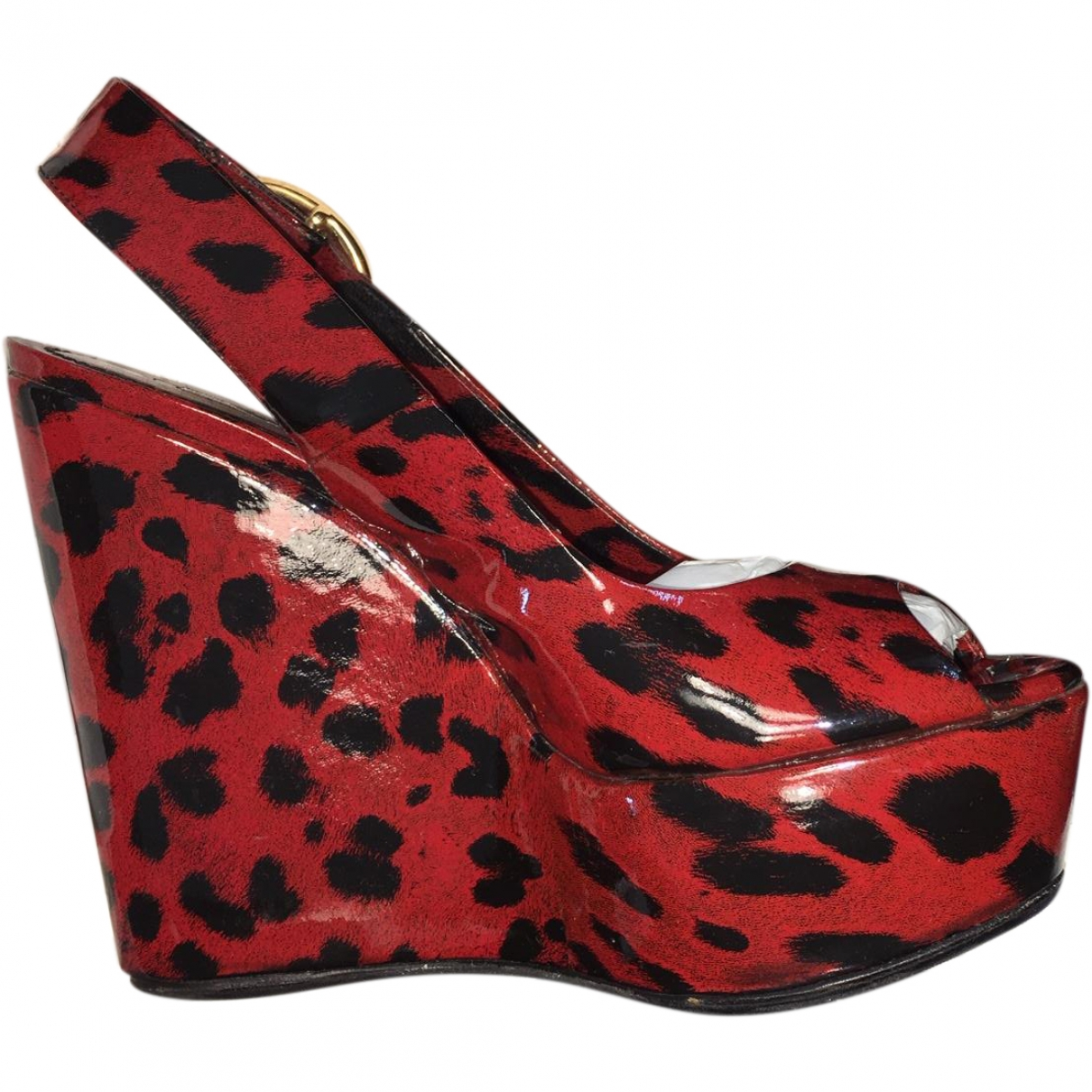 Dolce & Gabbana \N Red Patent leather Sandals for Women 37 EU