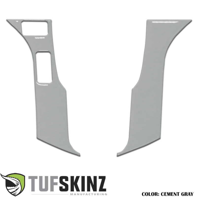 Tufskinz TAC037-GGY-G STEERING WHEEL TRIM WITH 2 BUTTONS Fits Toyota Models 2 Piece Kit Cement Gray