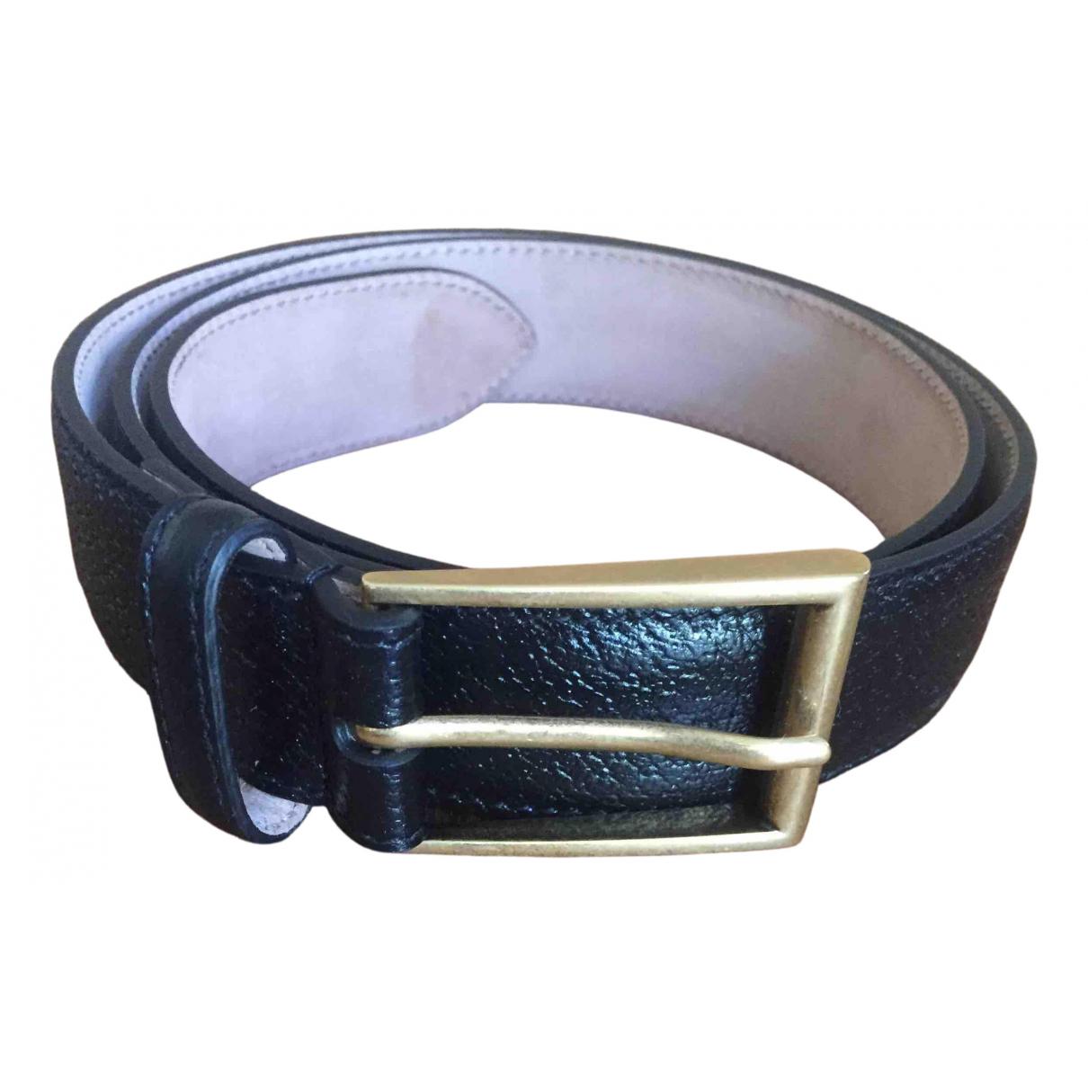 Gucci \N Black Leather belt for Women 85 cm