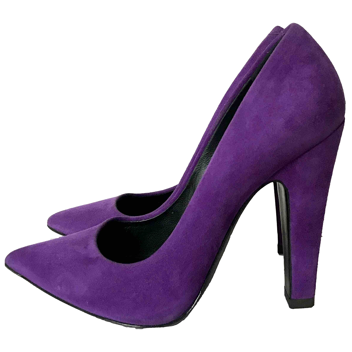 Giuseppe Zanotti \N Purple Suede Heels for Women 38 EU