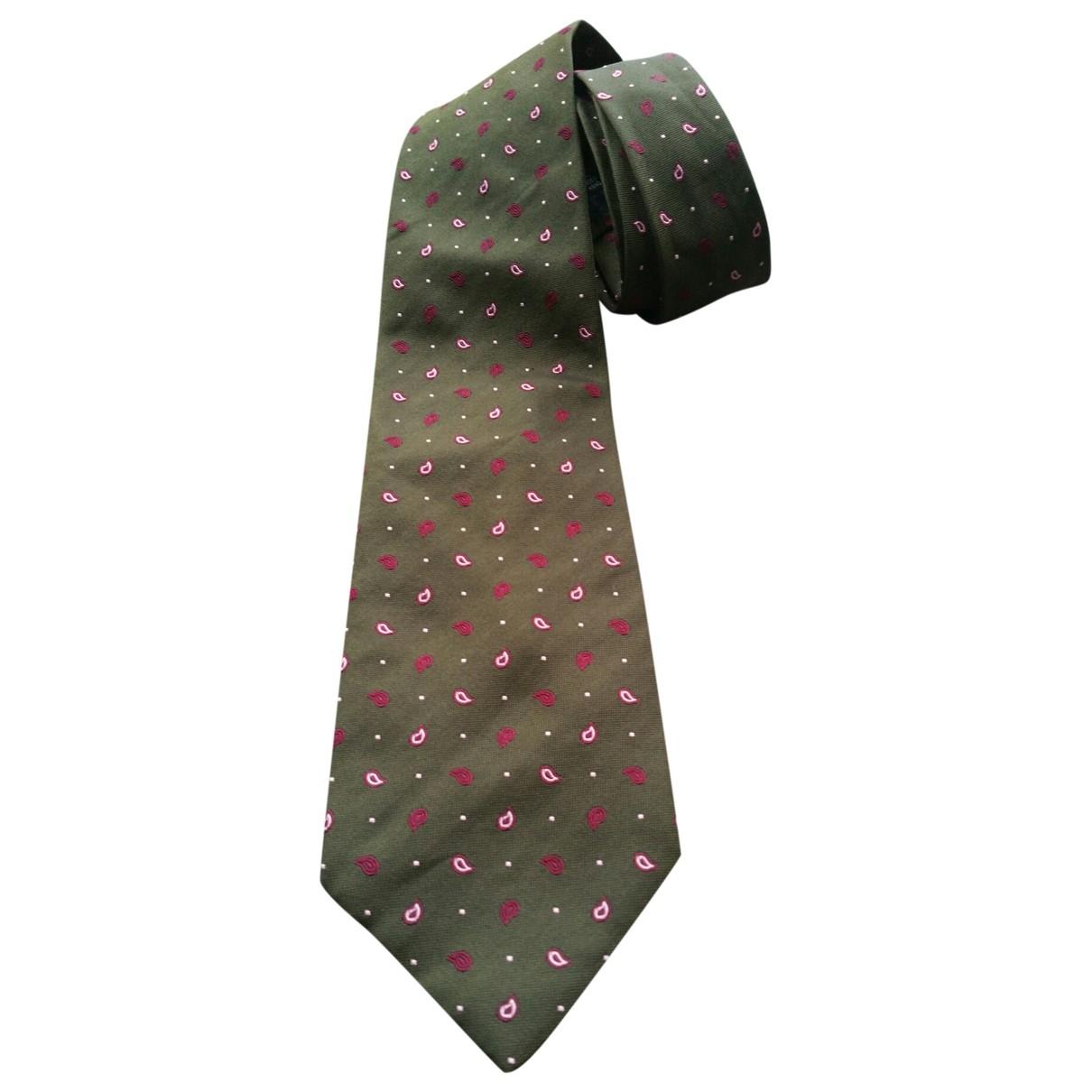 Balmain \N Krawatten in  Khaki Seide