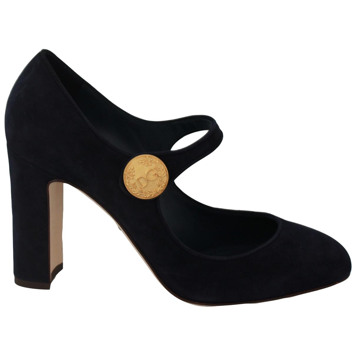 Dolce & Gabbana \N Blue Suede Heels for Women 39 EU